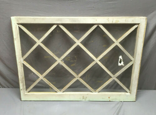 Antique Diamond Cottage Window Shabby Vintage Chic 39x28 161-19L