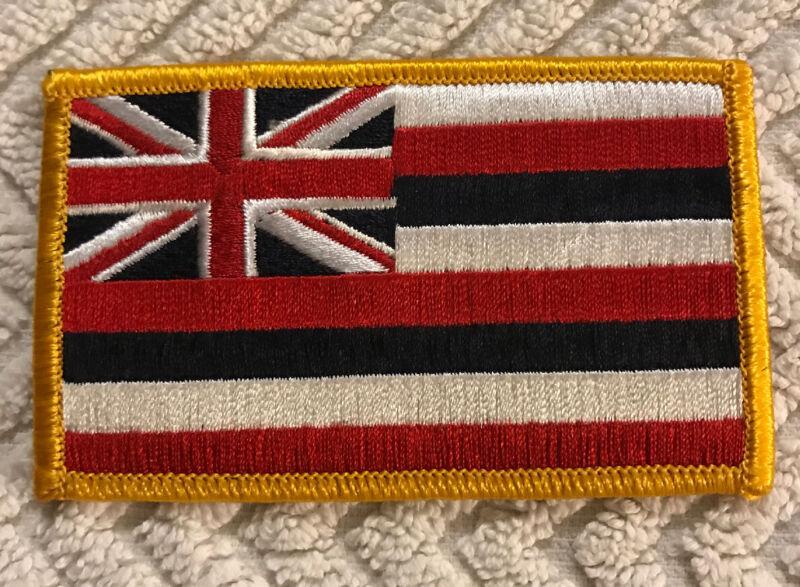 HAWAIIAN FLAG COLLECTORS PATCH HAWAII