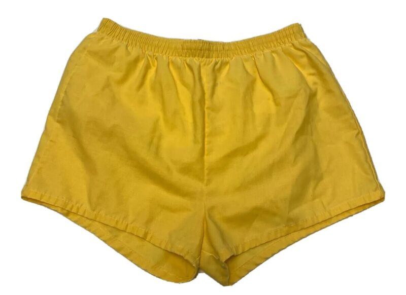 Sears Vtg 1970's Mens Active Wear Yellow Swim Trunk Shorts Large