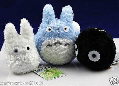 My Neighbor Totoro Blue-totoro White-totoro Black-Soot-totoro Plush(1 Set of 3)