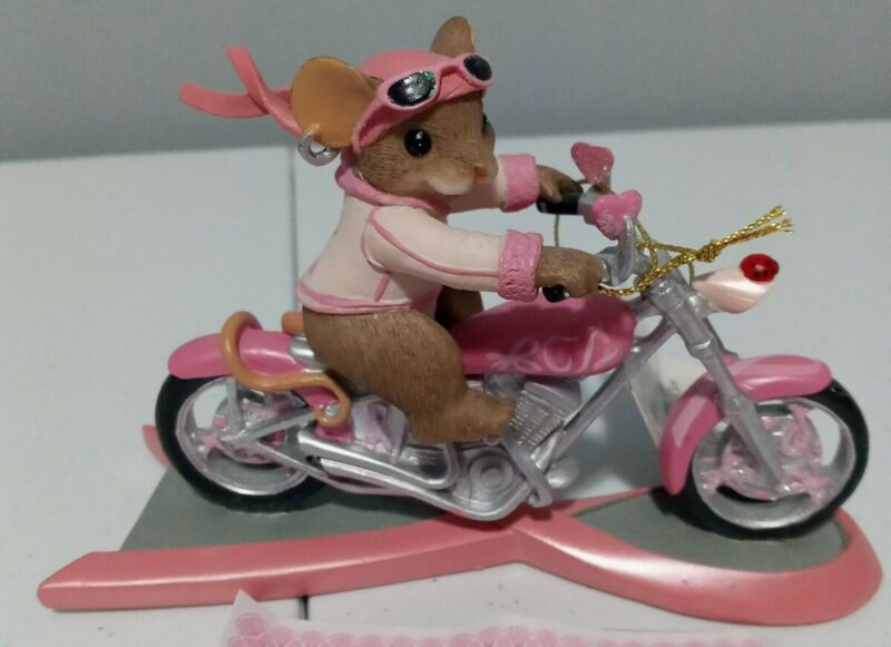 """Charming Tails """"RIDING ON FAITH"""" Figure Trails Of A Cure Collection A0183"""