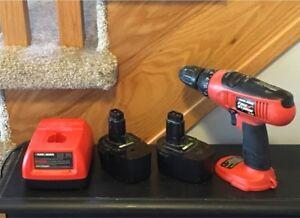 Cordless Drill Set - 14.4V Black & Decker Firestorm
