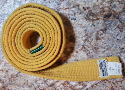 Used Martial Arts Karate Kung Fu Uniform Belts Tiger Claw Yellow #2 & White #1