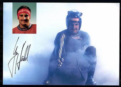 Georg Hackl Autogrammkarte Orginal Signiert Rodeln + A 85039