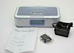 Memorex Mi4004-Blu BLUE Iwake Dual Alarm Clock AM/FM Radio with Remote control