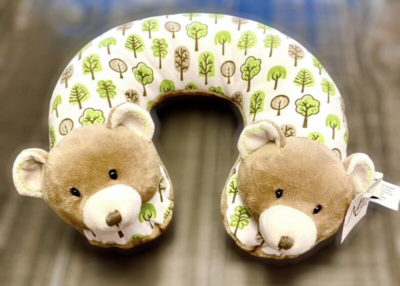 Maison Chic Cocoa the Bear Plush Travel Pillow Infant Child Neck Support Pillow