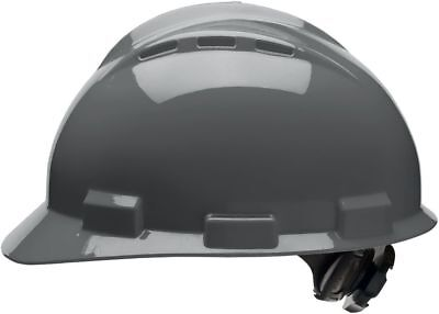 Bullard Vented Cap Style Hard Hat With 4 Point Ratchet Suspension Gray
