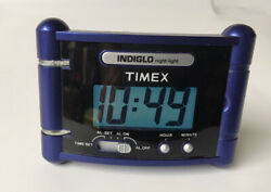 Timex Indiglo Alarm Clock Night Light AAA Battery Operated Travel Alarm Clock