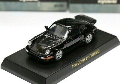 Kyosho 1/64 Porsche Collection Ver 3 Porsche 911 Turbo 964 1991 Black