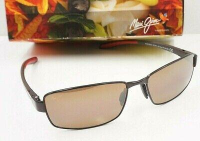 NEW Maui Jim POLARIZED Sunglasses Rectangular  KONA WINDS Gunmetal w HCL Bronze