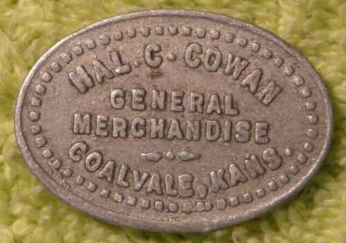Hal C. Cowan merc. good for 5 cents in trade token Coalvale Kansas ghost town