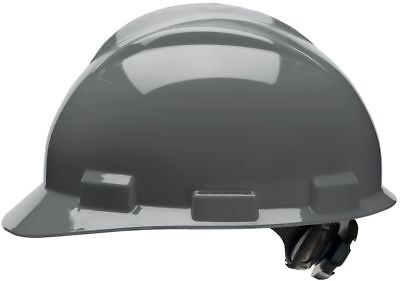 Bullard Cap Style Hard Hat with 4 Point Ratchet Suspension, Gray