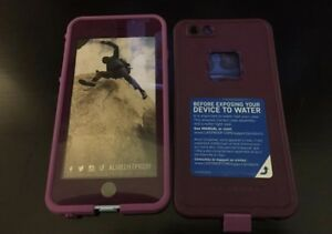 iphone lifeproof 6/6s plus case in crushed purple