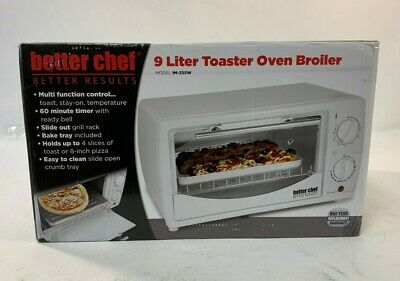 Better Chef 9 Liter Toaster Oven Broiler In White Model IM-255W