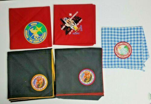 Lot Of 5 - Boyscout Of America bandanas Camp Wallowa