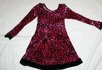 Girl Leopard Cheetah Print Dress Up Halloween Costume Play Dance Size 6/7/8 - Girl Leopard Costume
