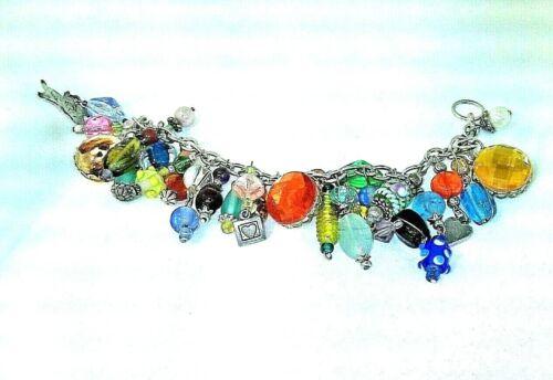 Cavalier King Charles Dog Spaniel Silver 925 Charm Bracelet Many Crystals Beads