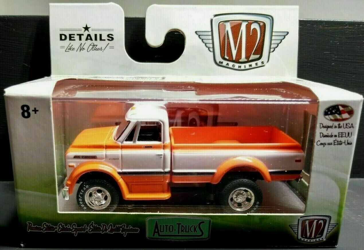 M2 Auto-Trucks 1970 Chevrolet C60 Truck R46 Orange/White 1:64