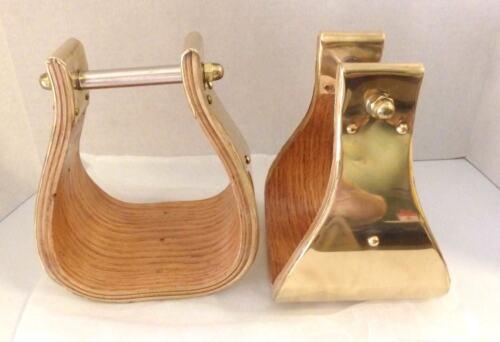 "Formay 1721585SB-5,WD bell wood stirrup bound w/SB 3"" neck 5"" tread,western tack"