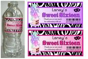 Zebra Sweet 16 Party Supplies