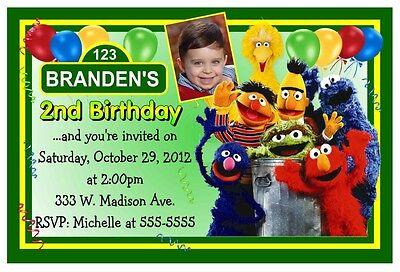 Sesame Street Photo Invitations (SESAME STREET BIRTHDAY INVITATIONS DESIGN ~ with personal)