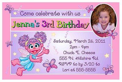 ABBY CADABBY BIRTHDAY PARTY INVITATIONS W/ or W/O photo (Abby Cadabby Invitations)