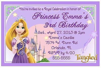 RAPUNZEL TANGLED BIRTHDAY INVITATIONS DESIGN - Tangled Invitations