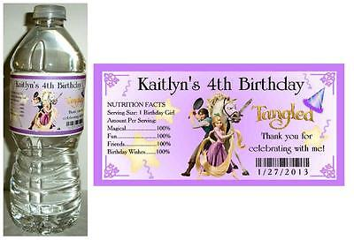 20 RAPUNZEL TANGLED BIRTHDAY PARTY FAVORS ~ WATER BOTTLE - Rapunzel Favors