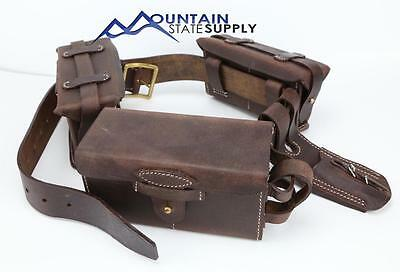 Repro WW2 Japanese Arisaka Leather Belt Ammo & Grenade Pouch & Bayonet Frog