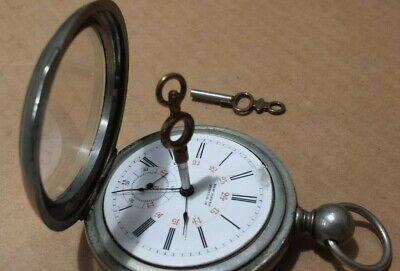 Antique New Haven Pocket Watch Plan Watch Co Key Wind Movement Working Selkirk