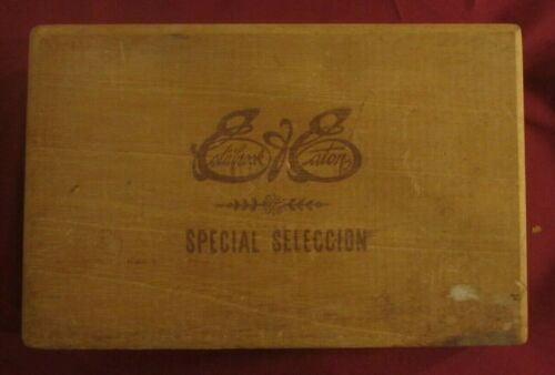Vintage Estabrook & Eaton Wood Cigar Box Tobacco Box Only