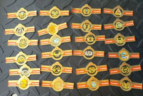 24 DIFFERENT PALADIJN CIGAR BANDS WITH AIRLINE LOGOS PAN AM TWA EASTERN UNUSED