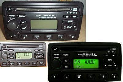 Ford Autoradio 6000 CD RDS mit CODE Focus Mondeo Fiesta Transit Galaxy mit Code