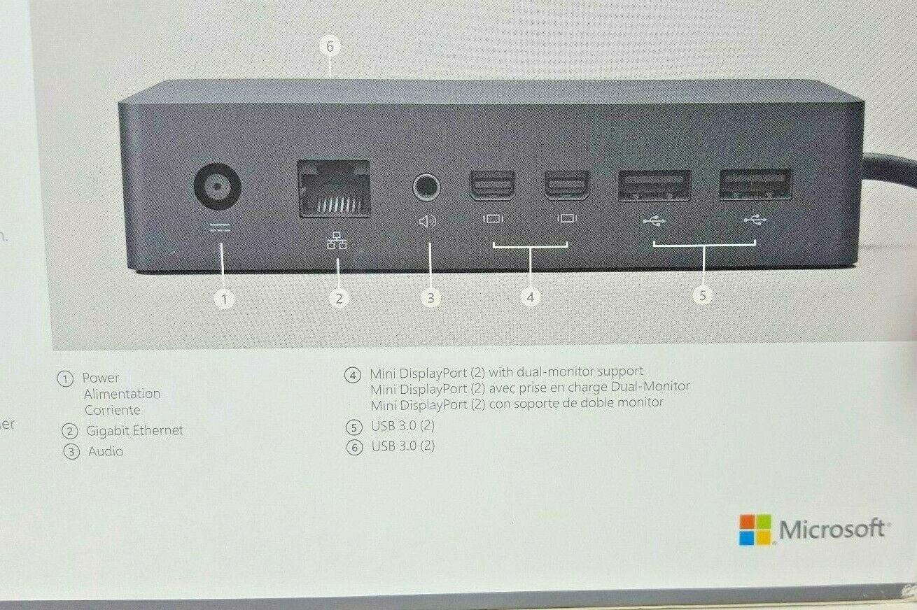 Microsoft Surface Dock for Pro 6 Pro 4 3 and Book Docking Station USB Pro 5