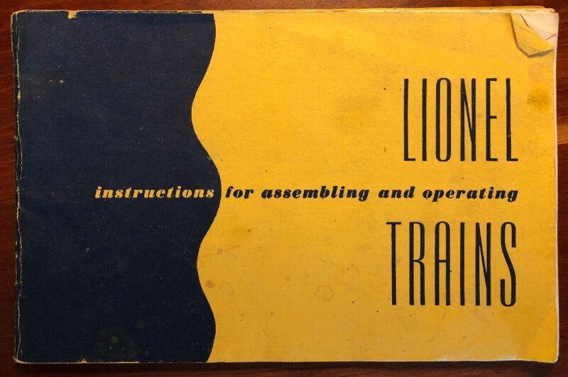 Instruction Booklet Lionel Trains 1952 edition 64 pages