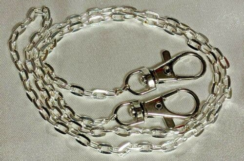 """FACE MASK CHAIN HOLDER NECKLACE 26"""" SILVER Unisex 5 x 7mm links Lanyard USA"""
