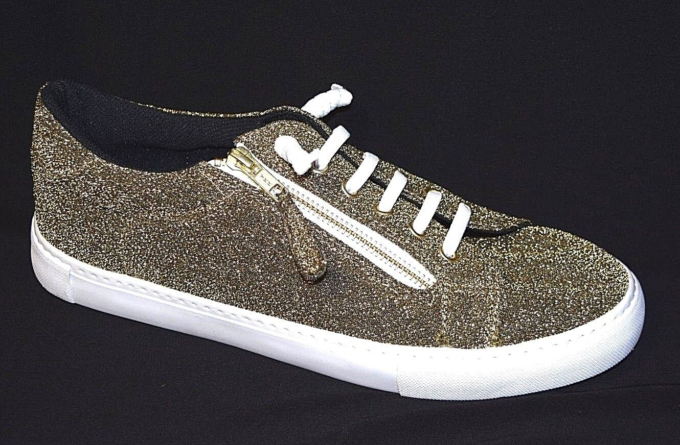 TS shoes TAKING SHAPE sz 11 / 42 Glitter Lexi Sneakers wide fit gold bling NIB!