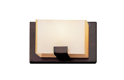 Rubbed Oil Bronze And Acrylic Cube 1 Light  Halogen Bath/Wall Sconce 1 Light Halogen Wall Sconce
