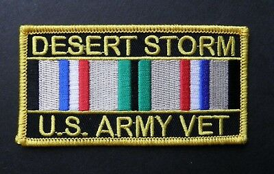 OPERATION DESERT STORM USA ARMY VET VETERAN EMBROIDERED PATCH 4 X 2 INCHES Desert Storm Vet Patch
