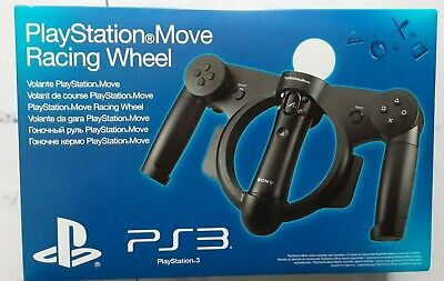 Official PlayStation 3 MOVE RACING STEERING WHEEL PS3 NEW BOXED vr adaptor