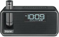 iHome iKN95 Alarm Clock Lightning Cable LED Charging Dock Station With Speakers