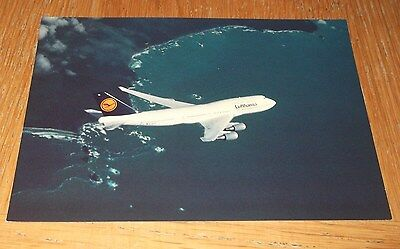 Lufthansa Boeing 747-400 branded postcard MINT CONDITION