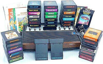 ORIGINAL ATARI 2600 Sears TeleGames Heavy Sixer System Bundle W/ 35 Games