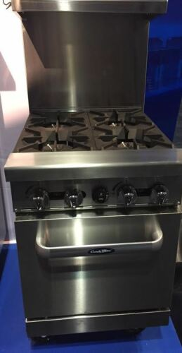 """New 24"""" Range 4 Burners With 1 Space Saver Oven Stove  Lp Gas Free Liftgate Del"""