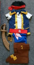 Jake and the neverland pirates costume, sword and book