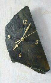 Handmade welsh slate wall clock