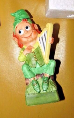 1975 Hoffman Distilling Co., Mr. Lucky Series – Mr. Harpist  Harp Playing Irish