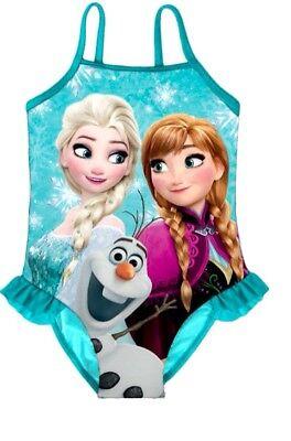 Disney Eiskönigin Anna Elsa Olaf Frozen Badeanzug Schwimmanzug 116 122 128 o 134
