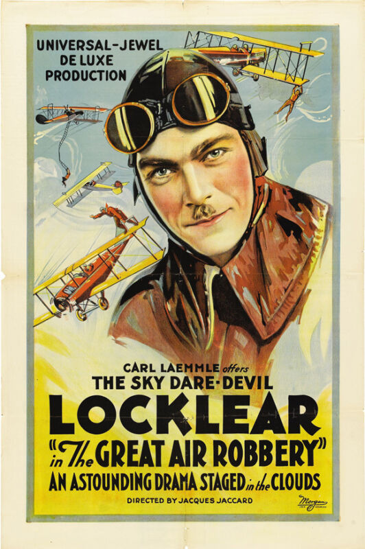THE GREAT AIR ROBBERY Movie POSTER 27x40 Ormer Locklear Allan Forrest Ray Ripley