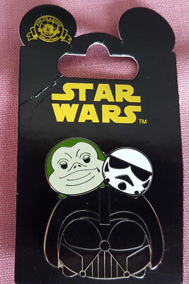 Parks Disney Tsum Tsum Slider Pin Star Wars Villains Darth Vader Boba NewOn Card